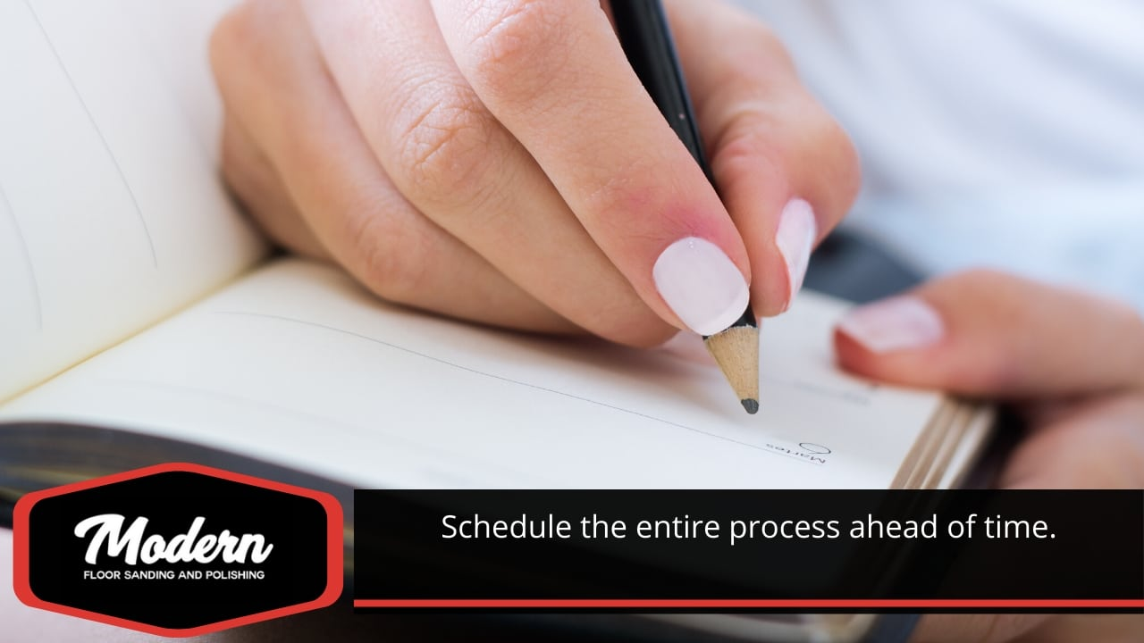Schedule the entire process ahead of time.