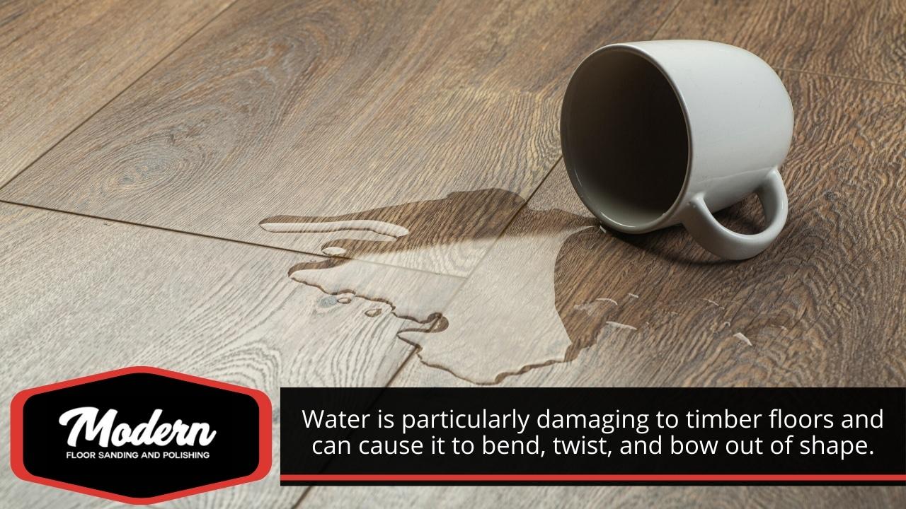 Clean liquid spills immediately