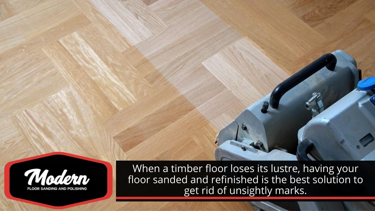 Timber floor sanding and refinishing