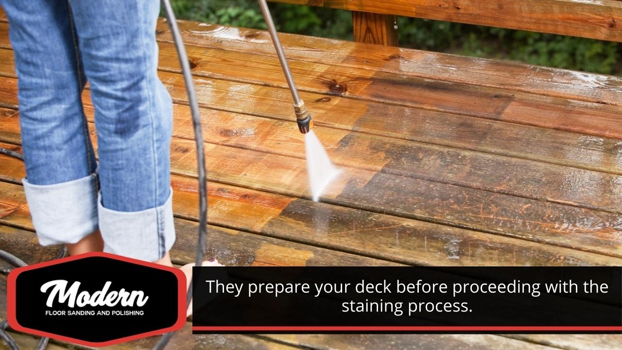 Deck preparation