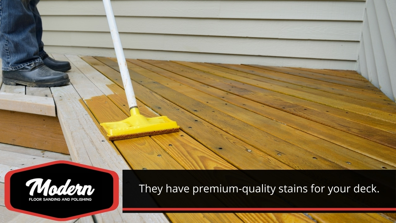 Premium-quality stains for your deck.