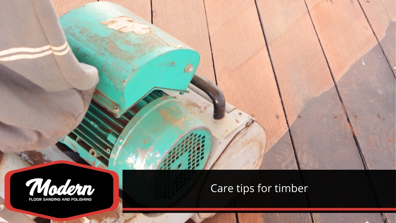 Care tips for timber